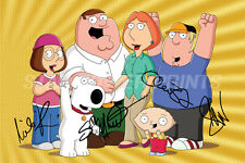FAMILY GUY CAST  PHOTO PRINT POSTER PRE SIGNED - 12 X 8 INCH  - SETH MACFARLANE