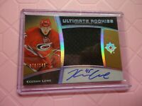 2015-16 ULTIMATE COLLECTION ROOKIE JERSEY AUTO KEEGAN LOWE 76/149 HURRICANES