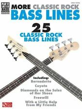 """MORE CLASSIC ROCK BASS LINES"" MUSIC BOOK-PLAY IT LIKE IT IS W/TAB-NEW ON SALE!!"