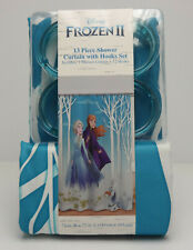 """Disney Frozen II 2 - 13 Piece Shower Curtain w/Hooks Set, 72"""" X 72""""  SHIPS FAST!"""