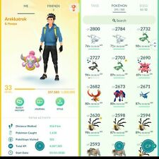 Pokémon Go Account 33,67 Legendary,61 Shiny Meltan,Smeargle,Regirock,Abra✨,13💯%