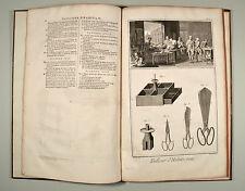 Tailleure Schneider Schnitte Diderot d'Alembert 1770 Folio Gebunden 24 Kupfer