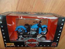 1/18 MAISTO CLASSIC 1948 EL PANHEAD BLUE HARLEY DAVIDSON MOTORCYCLE BIKE