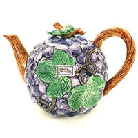 Vintage Fitz and Floyd Hand Painted 1989 22-07 Grapes Tea Pot