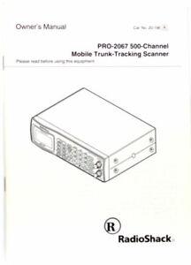 ORIGINAL MANUAL for RADIO SHACK PRO-2067 MOBILE TRUNK-TRACKING SCANNER