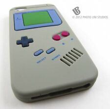 GREY FUN GAME BOY SILICONE RUBBER SKIN CASE COVER APPLE IPHONE 5 5S SE