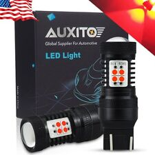 2X AUXITO 7443 7440 7444 Super Red Brake Tail Stop Rear LED Light Bulbs 2800LM