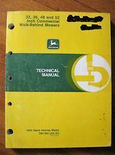 John Deere 32 36 48 52 Inch Commercial Walk behind mower technical manual