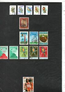 GUYANA ASSORTED STAMPS & SETS - ALBUM PAGE/S (G146)