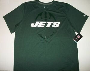 NIKE Dri-Fit NY Jets Green Polyester Shirt XL New with tags