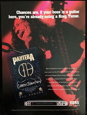 PANTERA / DIMEBAG DARRELL - 1 PAGE ADVERT FROM GUITAR WORLD MAGAZINE 1999