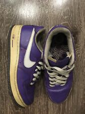 Nike Women's Air Force 1 Purple White Leather Low Top Sneakers Size 7 315115-512