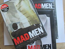 MADMEN   SEASONS 1,2 & 3 (2007-2009)LBX ( 3 BRAND NEW BOX SETS) LIONSGATE/AMC