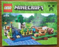 Lego 21114 Minecraft The Farm Instructions only