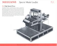 MECCANO plan type 10.25/9.5 High Speed Press