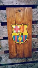 FC Barcelona wooden wall art , plaque sign badge handmade mancave