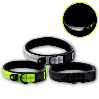 Reflective Dog Puppy Neck Collar Safety Soft Adjustable Nylon Strong Buckle S-XL