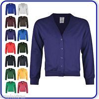 "New Good Quality Ladies Girls School Sweatshirt Cardigans size 22""-34"" (1250)"