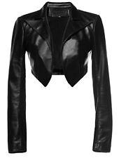 Women&Girls 100% Genuine Lambskin Leather Crop Moto Bolero Shrug Jacket Slim Fit