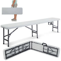 Goplus 6' Portable Plastic In/Outdoor Picnic Party Camping Dining Folding Bench