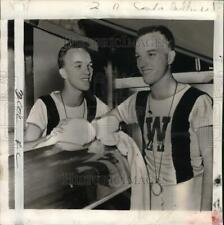 1951 Press Photo University of Washington's Tren & his brother Art, Crew