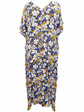 Phool FLORAL Printed Drawcord Kaftan Dress OneSize PLUS SIZE to fit 20 22 24 26