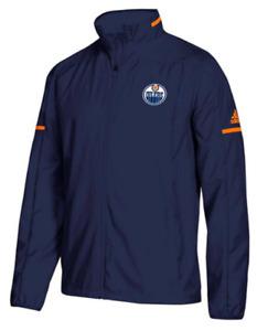 Adidas Edmonton Oilers Team Issue Rink Jacket men NHL hockey coat training PE