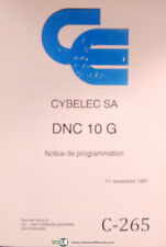 Cybelec SA DNC 10 G, Notice de Programmation, French Programming Manual 1991