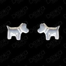 Genuine 925 Sterling Silver Puppy Dog Mini Stud Earrings Girl Children Women Men