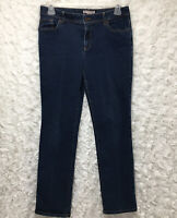 Women's Chico's denim blue Jeans straight size 1 regular with pockets