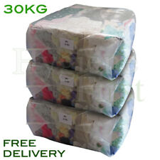 30KG Mixed Coloured Cotton Rags Wipers Polishing Cloths Garage Industrial Clean