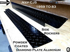 Jeep CJ5 Powder Coated Aluminum Diamond Plate Side Rockers 5 1/4'' WIDE Set of 2