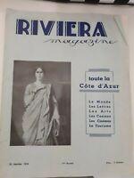 CATALOGUE RIVIERA MAGAZINE 25 JANVIER 1935 TOUTE LA COTE D'AZUR ILLUSTRE