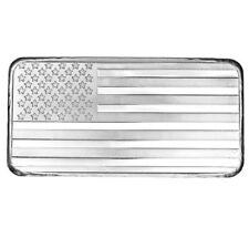 10 oz SilverTowne American Flag Silver Bar (New)