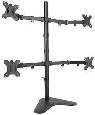 VIVO Quad Monitor Desk Stand Mount FreeStanding Adjustable | 4 Screens up to 27""