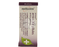 Nelsons Homeopathic Arnica 30c 84 Pillules Joint Muscle Back Neck Pain bruise