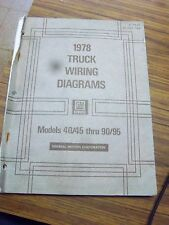 1978 CHEVY 40/45-90/95 TRUCK -C50~S60 -BISON BRUIN H70~J90 WIRING DIAGRAM Manual