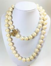 Kate Spade Celebration  Bow Pearl Necklace NWT Long Wrap Pearls Crystal Bow