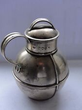 Small Rounded Jug, Sterling Silver London 1894, Victorian, Marked Nice Piece