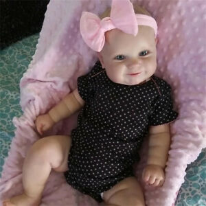 50CM Reborn Baby Doll Real Soft Touch Maddie Hand-Drawing Hair Handmade Doll