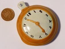 """19thC Prattware Pearlware """" Pocket Watch """" GO-WITH Staffs Figure Watch Holder"""