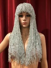 DaNeeNa M535Y Cher Sexy Pageant Dance Samba Vegas Burlesque Bugle Beaded Hat Wig