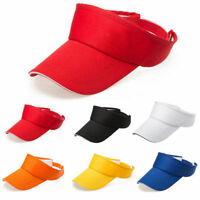 Visor Sun Hat Golf Tennis Beach Men Women Cap Adjustable Sports Plain Color Sale