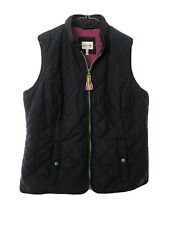 Joules Ladies Navy Padded Gilet Bodywarmer Waistcoat Size 16 Green Trim VGC