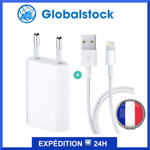 CHARGEUR SECTEUR USB + CABLE USB -PRISE IPHONE 6S/7/8/XS Max/XR/11/Pro/iPad/iPod
