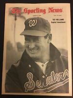 1969 Sporting News WASHINGTON Senators TED WILLIAMS No Label BOSTON RED SOX HOF