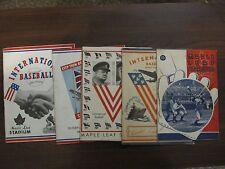 FIVE Toronto Maple Leafs International League Pro Baseball Programs 1941 to 1945