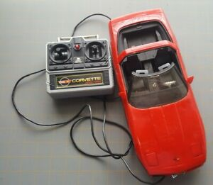 New Bright Chevy Corvette Remote Control Corded RC Car 1986 Red Vintage Classic
