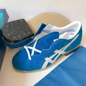 ASICS Weight Lifting Shoes TOW727-4201 Blue White Leather US6-10 Jappan