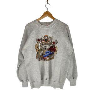 Vintage1990 Hunting Deer Crewneck Sweatshirt Mens Size XL Humor Funny Jerzees